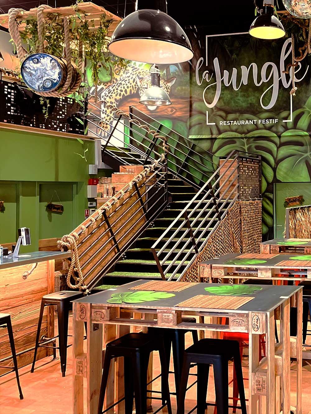 restaurant festif La Jungle